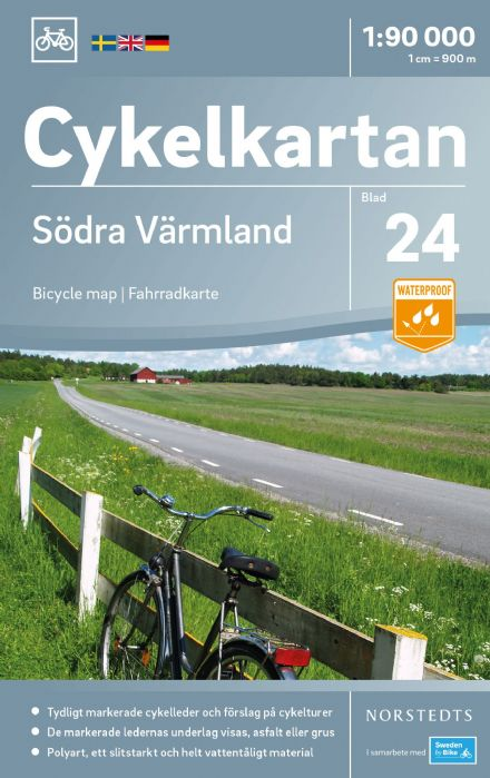 Sweden Cycling Map 24 - Värmland South